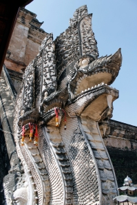 Nagas at Wat Chedi Luang
