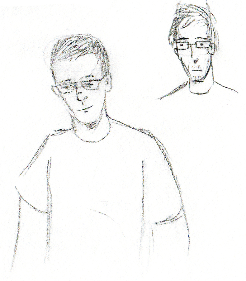 A few trial sketches of Andy.
