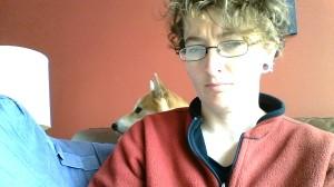Dog photobombed me.