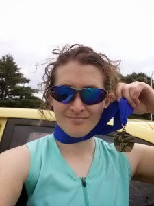 My awesome post-race selfie, for those (Mom) who didn't see it on FB.