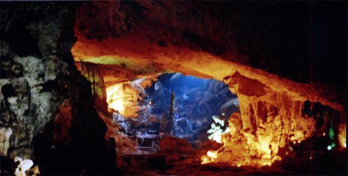 Cave in Ha Long Bay, Viet Nam