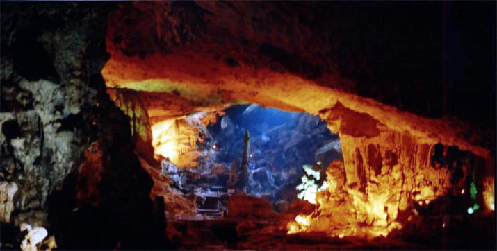 Cave in Ha Long Bay, Viet Nam
