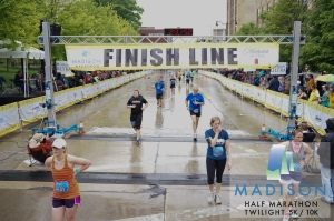 The finish line taken by a professional photographer (credit to Focal Flame Photography