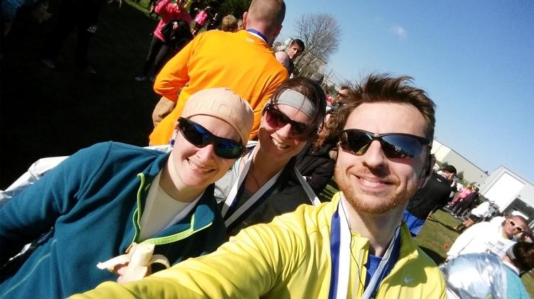 Post-Tyranena Selfie with Kristi and Alex